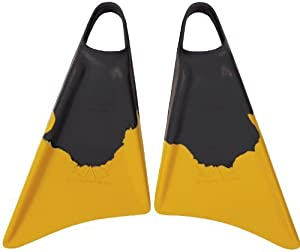 Churchill Makapuu Bodyboard Swim Fins Black Yellow - Small (5 - 6.5) by Churchill