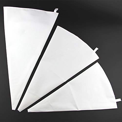 Canvas Cake Decorating Bags : Jennice House 3 Pack of White Cotton Canvas Cake ...