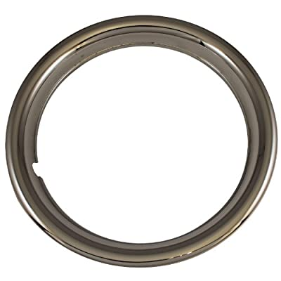"""Set of 4 Chrome Plated ABS Plastic 15"""" Universal 1.75 inch Beauty Trim Rings 15P"""