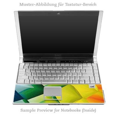 Design Skins für DELL Latitude D530 Inlay (Tastatur) - Colours Design Folie
