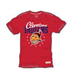 Cleveland Indians Mitchell & Ness Red Vintage T-Shirt-XXXLarge by Mitchell & Ness