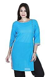 Eessence Women's Cotton Kurta (MCK04_BL_XL, Blue, XL)