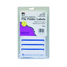 Charles Leonard Inc. File Folder Labels, 0.56 x 3.43 Inches, Blue, 248/box (45215)