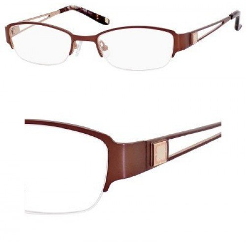 Liz Claiborne 417 Eyeglasses (0FL9) Camel Peach,