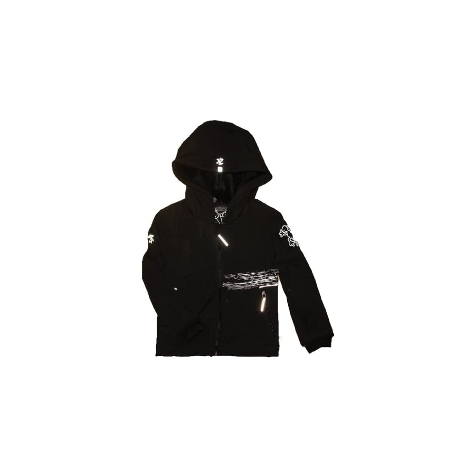XS Exes Jungen Softshell Jacke schwarz 140 Bekleidung on