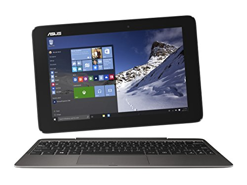 ASUS Transformer Book T100HA-C4-GR 10.1-Inch 2 in 1 Touchscreen Laptop (Cherry Trail Quad-Core Z8500 Processor, 4GB RAM, 64GB Storage, Windows 10), Gray