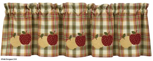 Apple Kitchen Curtains - Everything Log Homes