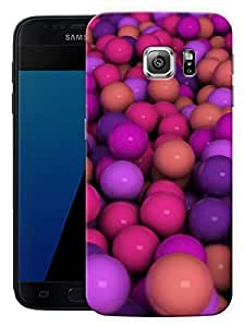"Purple Balls Pattern Printed Designer Mobile Back Cover For ""Samsung Galaxy S7 Edge"" (3D, Matte, Premium Quality Snap On Case)"
