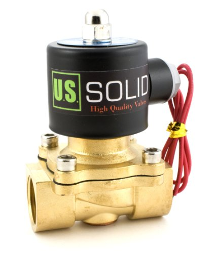 "3/4"" Brass Electric Solenoid Valve 110-VAC Normally Closed water, air, diesel..."