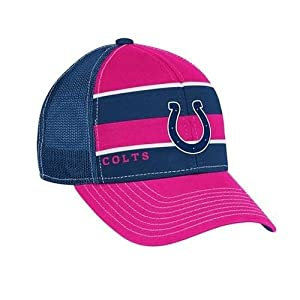 Reebok Indianapolis Colts Ladies Breast Cancer Awareness Trucker Hat Adjustable by Reebok