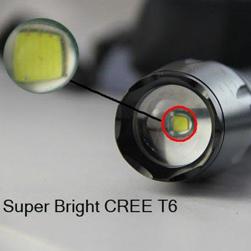 Lenoge®Ultrafire Flashlight Torch Adjustable Focus Light 2000 Lumens 7 Mode Cree Xml Xm-L T6 Led Aluminum Flashlight
