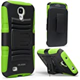 i-Blason Prime Series for Samsung Galaxy S4 Active i9295 Water Resistant Dual Layer Holster Case with Kickstand and Locking Belt Swivel Clip (Green)
