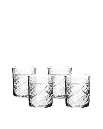 Fitz and Floyd Tufted Crystal Old Fashioned, Set Of 4, Clear