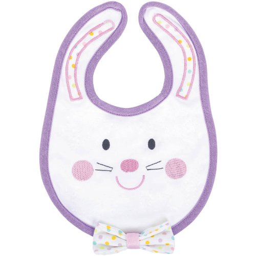 Amscam 6-12 Months Baby's 1st Easter Fabric Bib, Multicolor