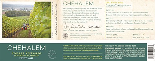 2011 Chehalem Stoller Vineyards Pinot Noir 750 Ml