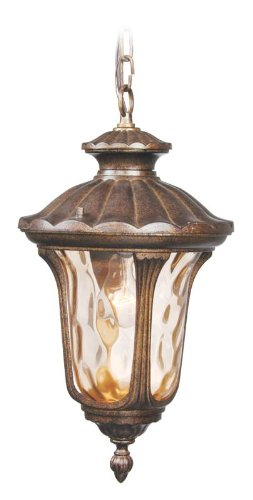 Livex 7654-50 Oxford Outdoor Chain Hung Lantern Moroccan Gold