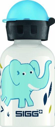 Sigg Elephant Family Water Bottle, White, 0.3-Liter