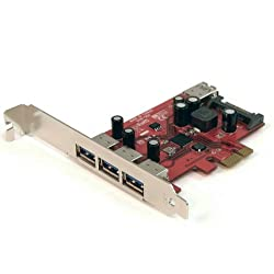 StarTech.com 4 Port SuperSpeed USB 3.0 PCI Express Card with SATA Power PEXUSB3S4