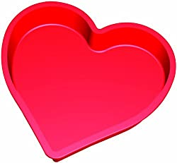 Lekue Heart Cake Mould, Red - 1300 ml
