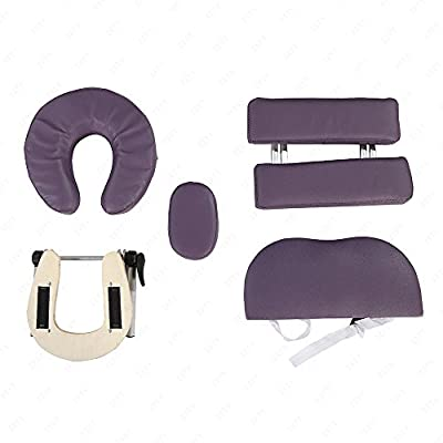 MSG Aluminum 3 Fold Portable Massage Table Facial Spa Bed Tattoo with Carry Case Purple