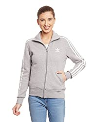 adidas Originals Women's Cotton Quilted Jacket (AB2185_Grey_36)
