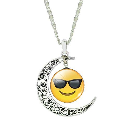 union-tesco-womens-lustige-emoji-3d-glas-cabochon-kette-vintage-halbmond-hohlen-anhanger-halskette