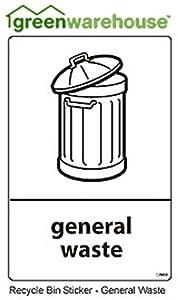 Recycling bin sticker 10cm x 15cm General Waste