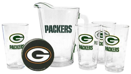 Green Bay Packers Pint Glasses and Pitcher Set | Green Bay Packers Gift Set