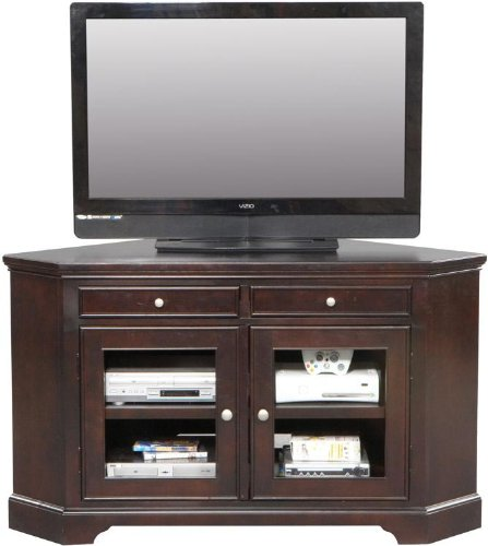 Oak Corner TV Stands For Flat Screen TVs