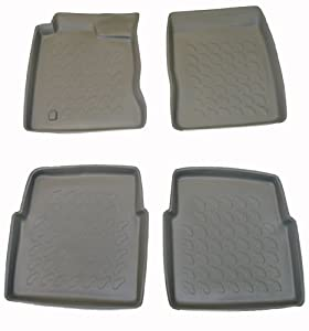 Carbox - CB-442344BL - 2000-2007 Chrysler PT Cruiser Carbox 4 Pc Floor Tray Set - Black