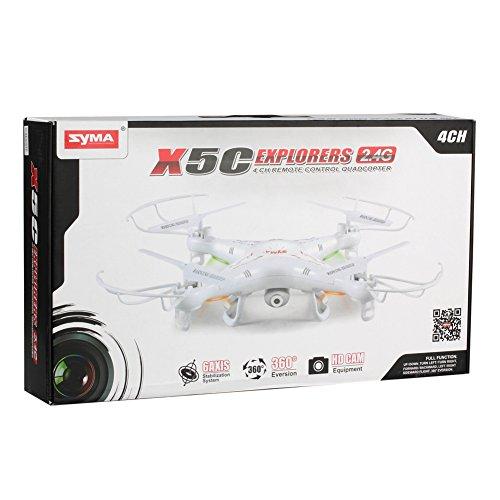 Syma X5c Exploradores 6 Axis 2.4G 4 canales RC Quadcopter helicóptero con cámara