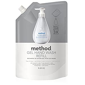 Method Gel Hand Wash Refill, Free and Clear, 34 Ounce
