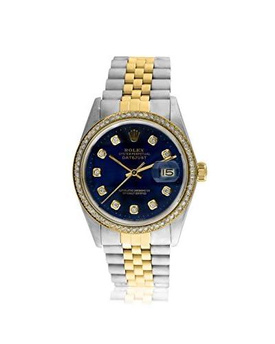 Rolex Men's Pre-Owned Datejust Diamond Stainless Steel & 18K Yellow Gold Jubilee Watch
