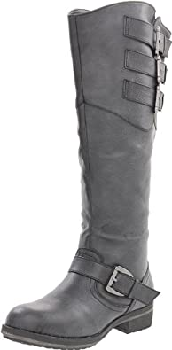 Madden Girl Women's Lundunn Knee-High Boot,Black Paris,6 M US