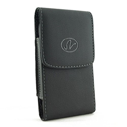 Premium Vertical Leather Pouch Case with Belt Clip for Apple iPhone 4S 4-S (Iphone 4s Case And Clip compare prices)