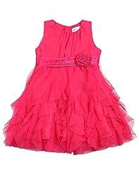 Soul Fairy Girls' Dress (SFPRYDRS01_Fuschia_9-10 Years)