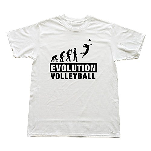 Stabe Men Volleyball Evolution T-Shirt Unique Funny Xxl White