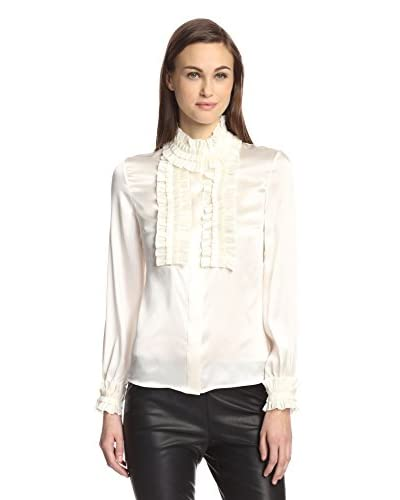 Zelda Women's Dimitra Charmeuse Top with Pleats