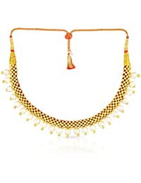 Malabar Gold And Diamonds Tushi Collection 22k (916) Yellow Gold And Synthetic Pearl Choker Necklace