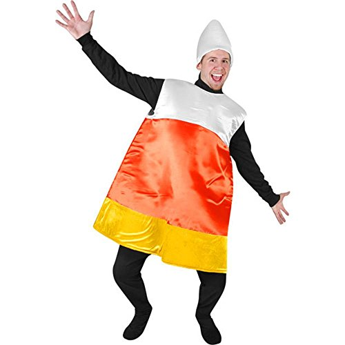 Adult's Candy Corn Halloween Costume (Size: Standard OS)