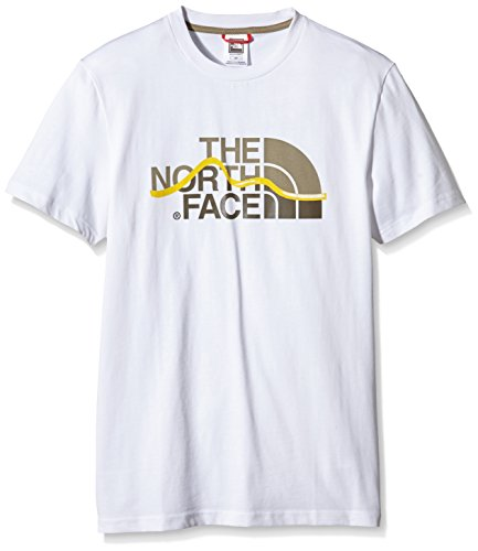 North Face - Maglietta a maniche corta da uomo, taglia S, colore: Bianco
