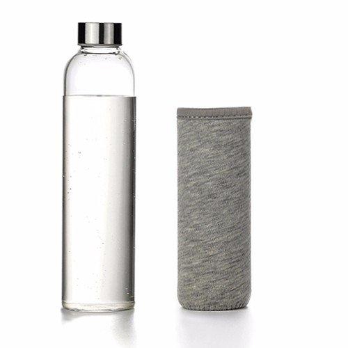 Bol en verre transparent étanche portable tasses tasses fleurs bouteille d'eau de grande capacité ,555