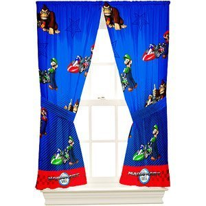 Super Mario The Race Is On Boys Window Panels by Franco