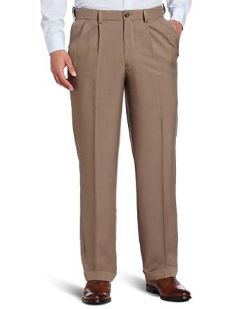 Van Heusen Men's Classic Pleated Pant, Chestnut, 34x34