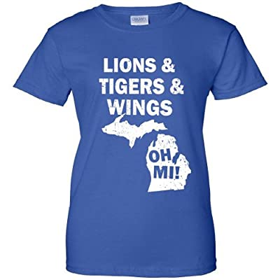 Lions Tigers Wings Oh MI Vintage Women's T-Shirt