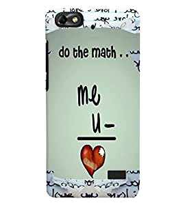 Fuson Love Mathematics Back Case Cover for HUAWEI HONOR 4C - D4076