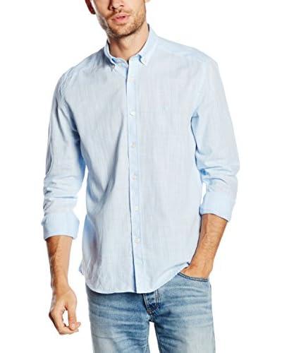 POLO CLUB Camisa Hombre Gentle Linen Sport Azul Celeste
