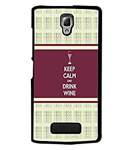PrintDhaba Quote D-2726 Back Case Cover for LENOVO A2010 (Multi-Coloured)
