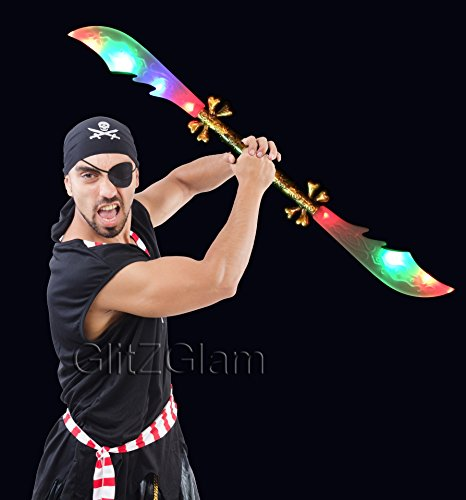 Pirate Swords. Double Edge - 2 Swords In 1 !! Led With Sounds & Light front-1040920