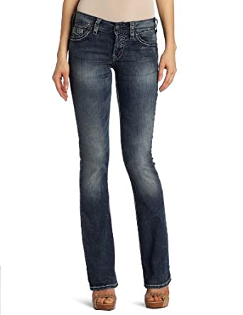 Silver Jeans Juniors Suki Medium Wash Jean, Medium-Dark Blue, 24x34